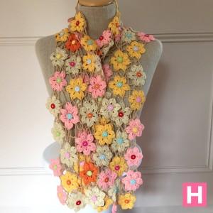 crochet flower shawl-CH0383-004