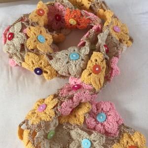 crochet flower shawl-CH0383-005