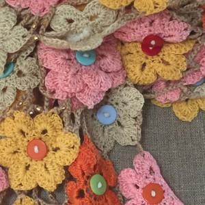 crochet flower shawl-CH0383-006