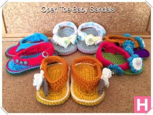 open toe baby sandals-000