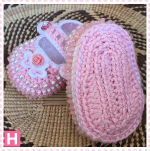 pink flower baby shoes-003