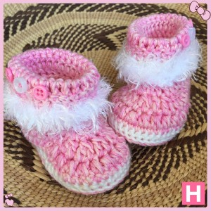 pink fluffy baby boots-002