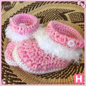pink fluffy baby boots-003