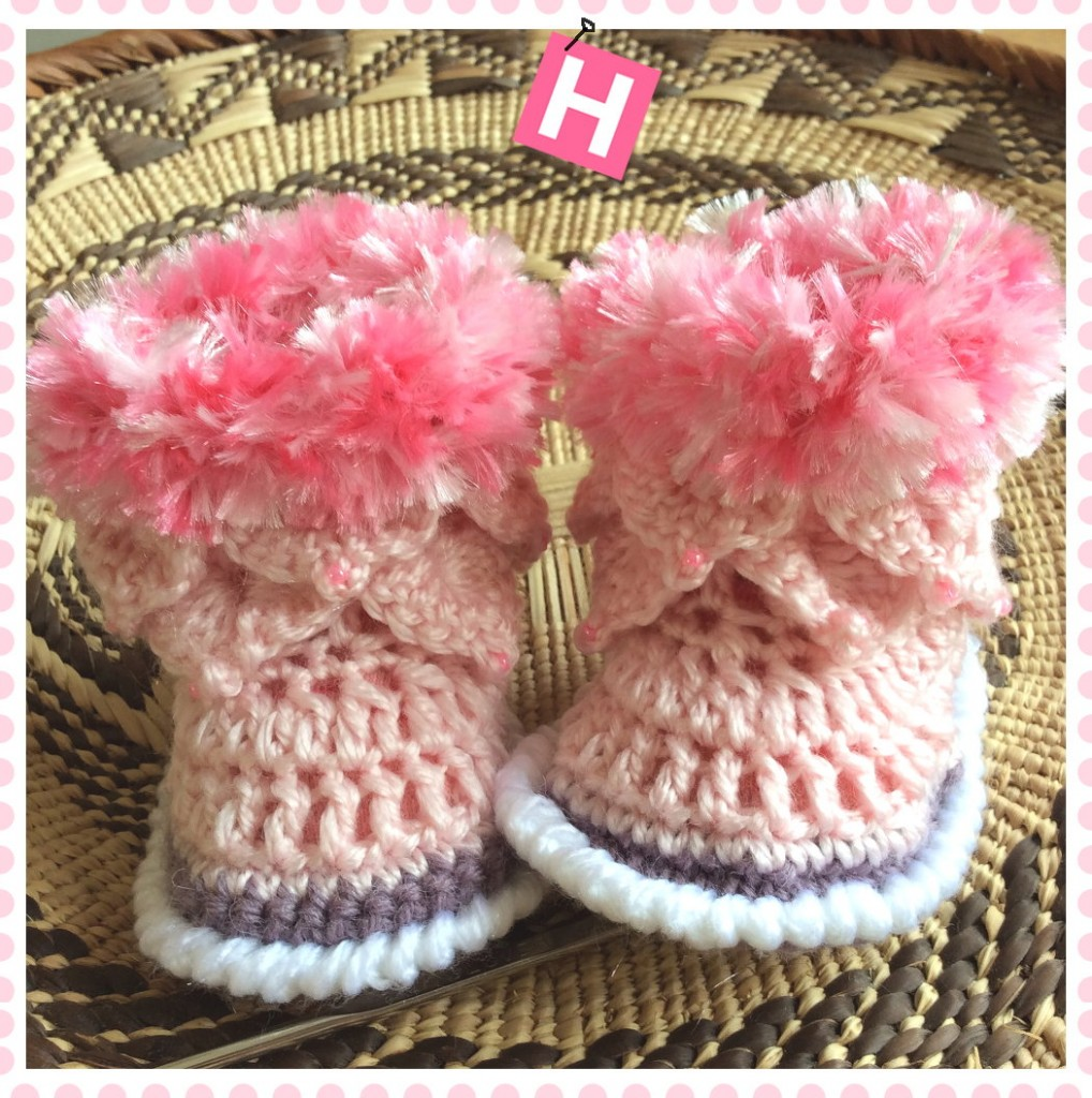 pink fluffy boots-CH0390-001