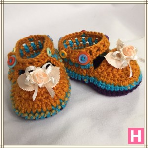 rose and buttons baby shoes CH0389-002