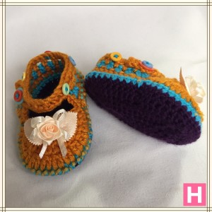 rose and buttons baby shoes CH0389-003