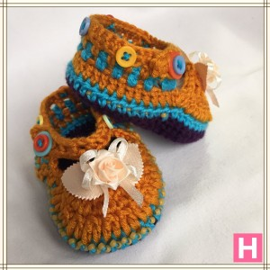 rose and buttons baby shoes CH0389-004