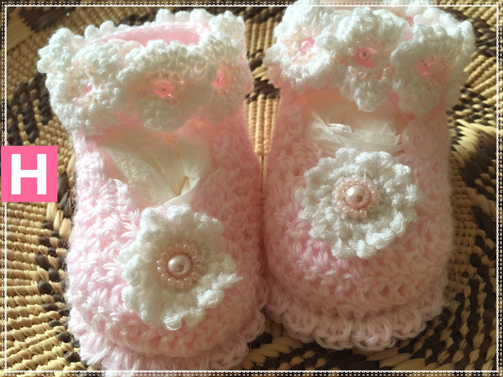 scallop edge baby shoes-A-001