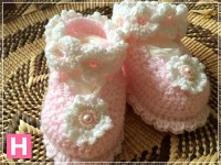 scallop edge baby shoes-A-004