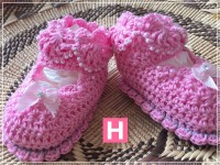 scallop edge baby shoes-B-003