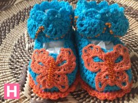 scallop edge baby shoes-C-001