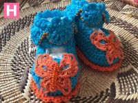 scallop edge baby shoes-C-002