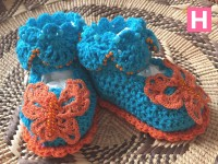 scallop edge baby shoes-C-004