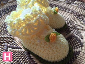 scallop edge baby shoes-E-002