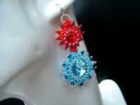 fire water earrings ch0246-001