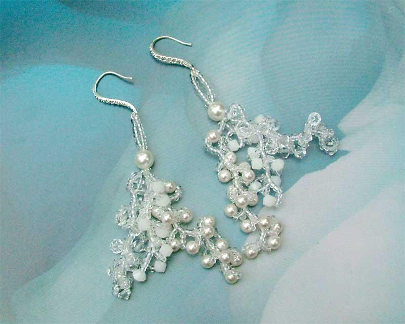 snow swirls earrings cc0107-002