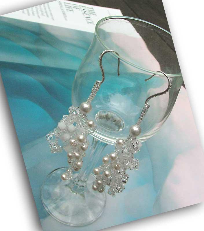 snow swirls earrings cc0107-003