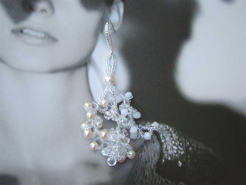 snow swirls earrings cc0107-004