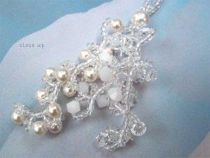 snow swirls earrings cc0107-006