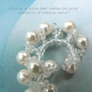 snow swirls earrings cc0107-007a
