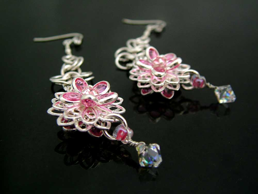 swarovski in bloom earrings ch0145-000