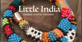Little India necklace – beaded crochet