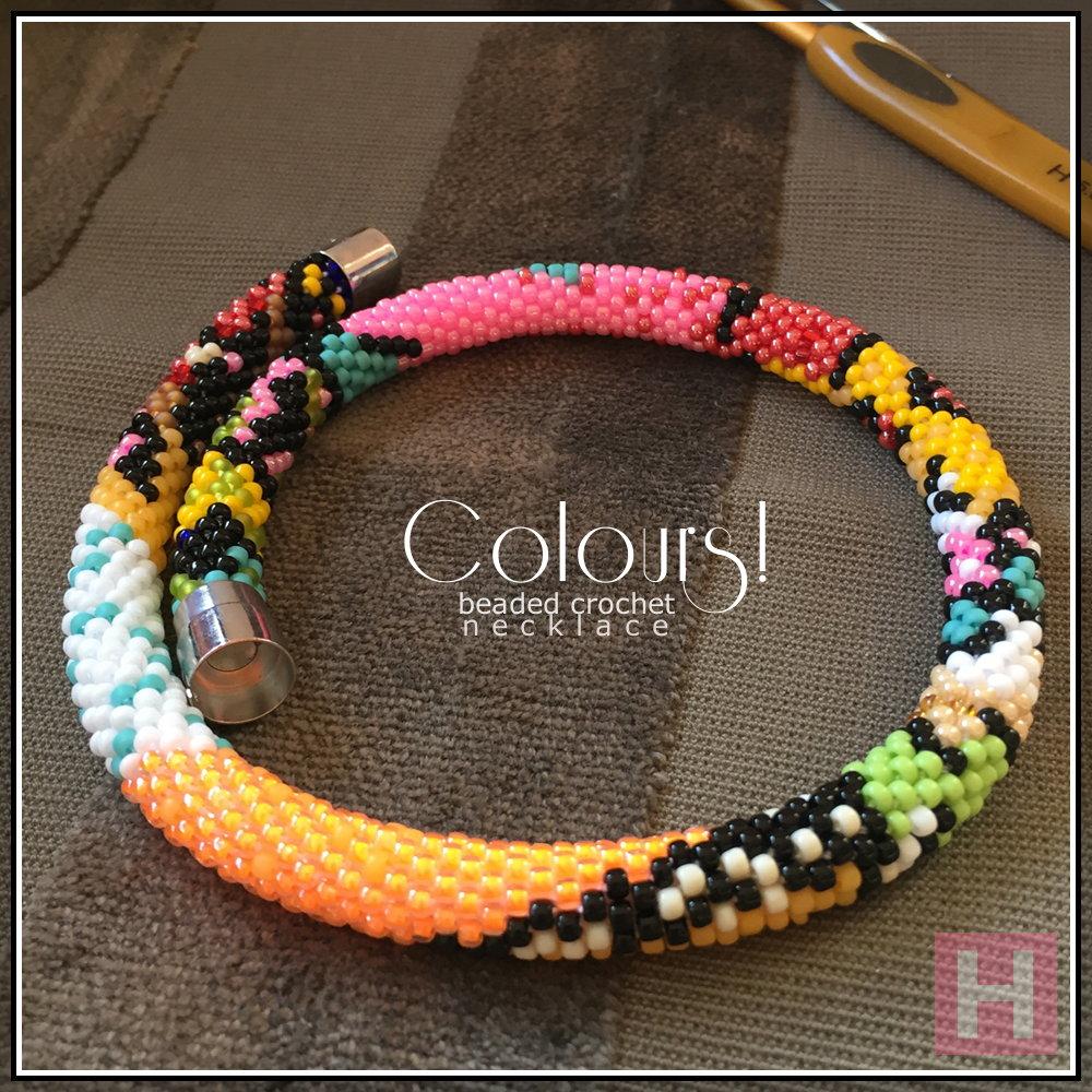colours crochet necklace CH0413-001