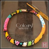 Colours! – beaded crochet necklace