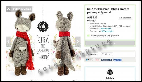 Crochet KANGAROO and BABY pattern (English only) | Crochet baby ... | 347x600