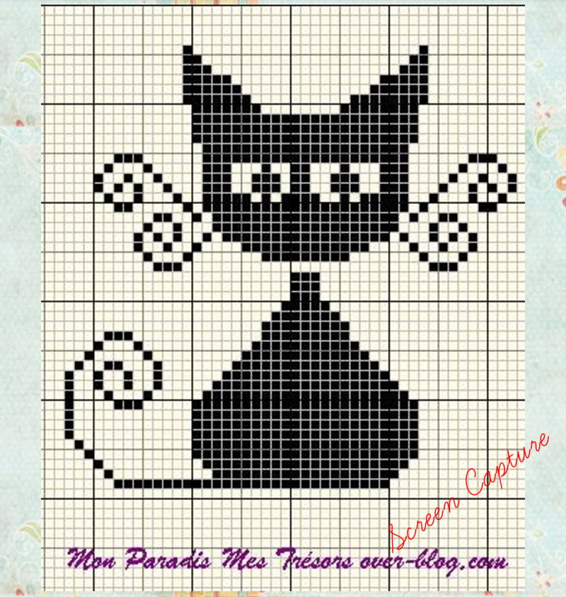 Kitten Knitting Chart : Tapestry crochet bag cat and fishes clearlyhelena