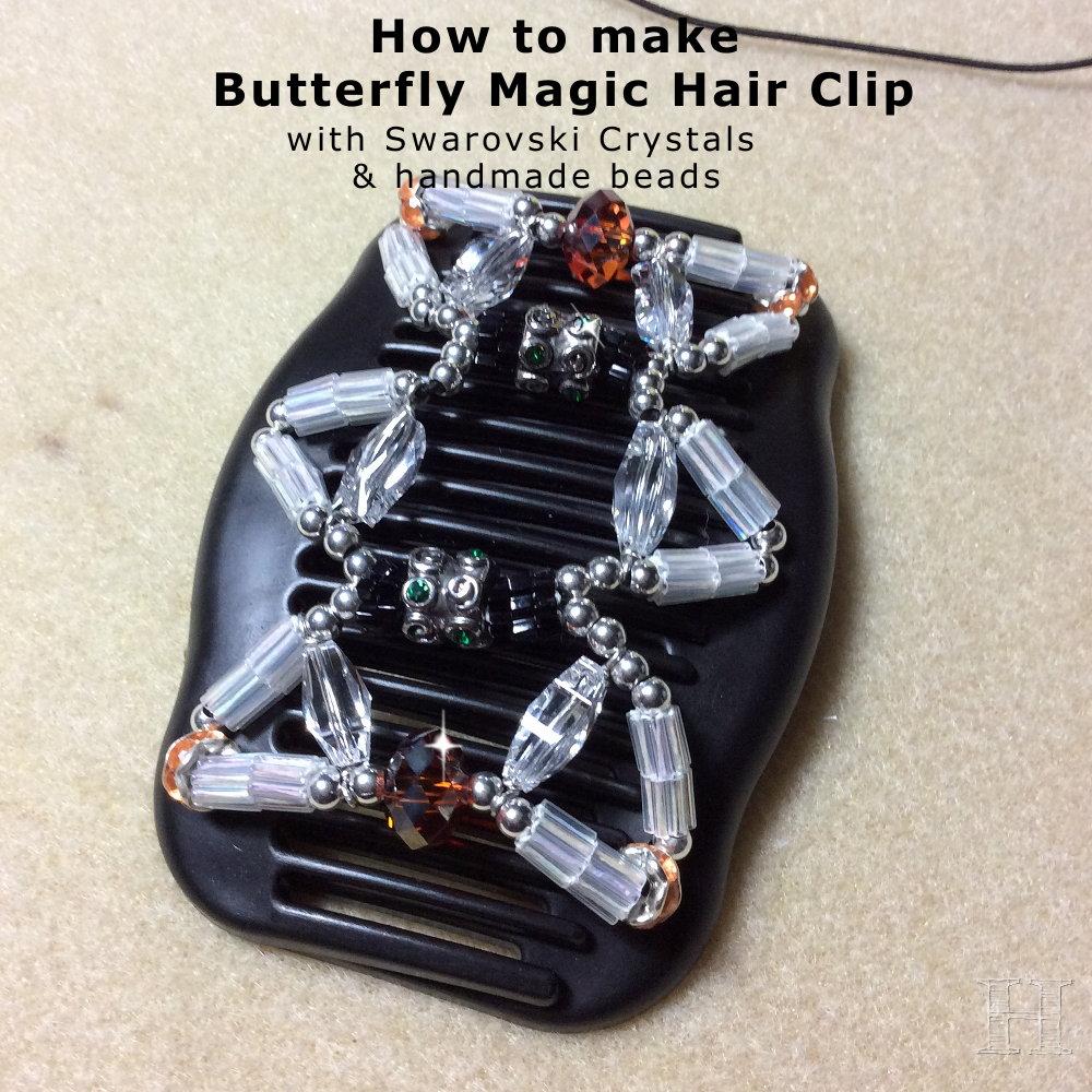 butterfly magic hair clip 000