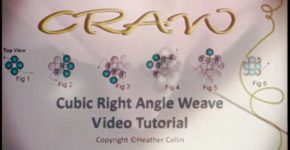 CRAW Stitch – How to Cubic Right Angle Weave Stitch