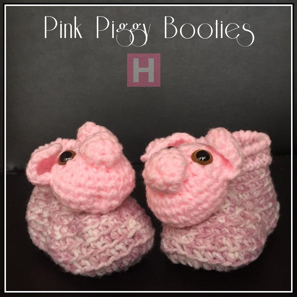 Pink Piggy Booties CH0430-000