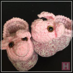 Pink Piggy Booties CH0430-001