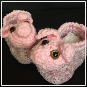 Pink Piggy Booties CH0430-003