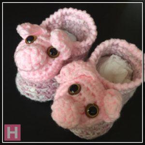 Pink Piggy Booties CH0430-004