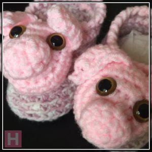 Pink Piggy Booties CH0430-005