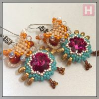 Beaded Owl Earrings II