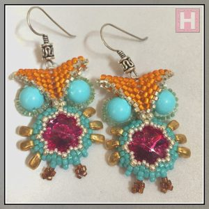 Beaded Owl Earrings I (How To)
