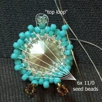 beaded owl earrings I - CH0424-012