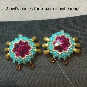 beaded owl earrings I - CH0424-018