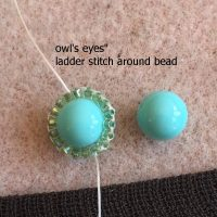 beaded owl earrings I - CH0424-019