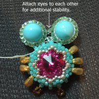 beaded owl earrings I - CH0424-021
