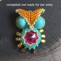 beaded owl earrings I - CH0424-029