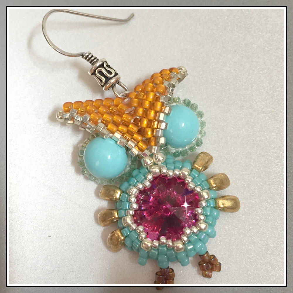 beaded owl earrings I - CH0424-030
