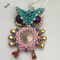beaded owl pendant CH0426-006