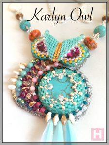 karlyn beaded owl ch0423-000