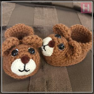 teddy bear booties CH0429-000