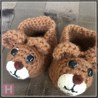 teddy bear booties CH0429-002