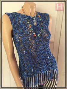 blues sparkly top CH0433-000